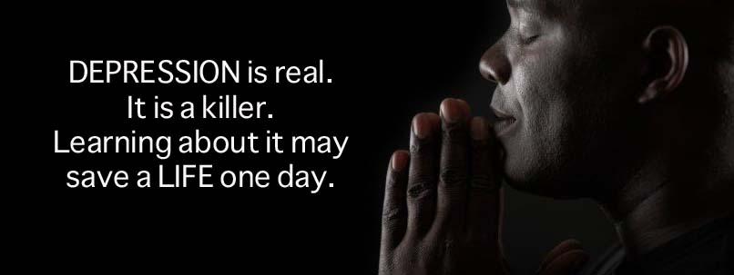 Message-prayingman Depression is Real