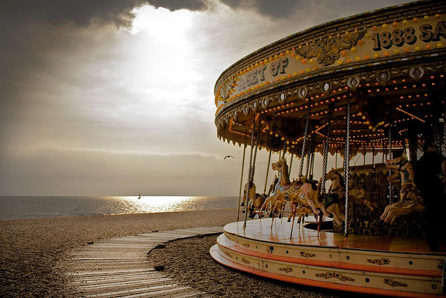 """My soul is an empty carousel at sunset."" -Pablo Neruda"
